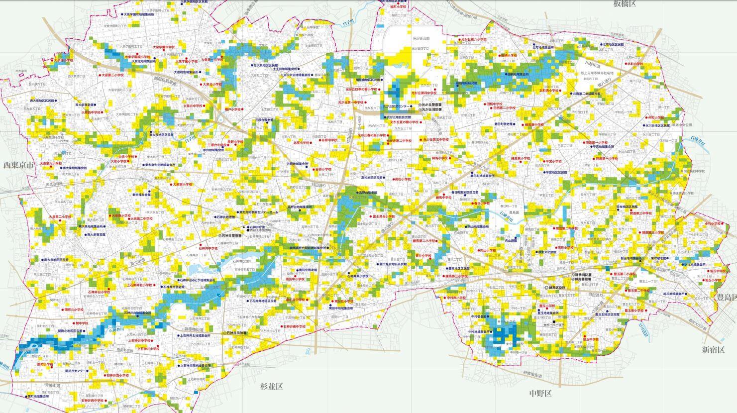 浸水ハザードマップ
